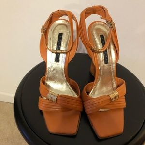 Laundry by Shelli Segal Wedge Sandal Orange Color